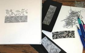 Carved Linoleum, Tools & Prints...